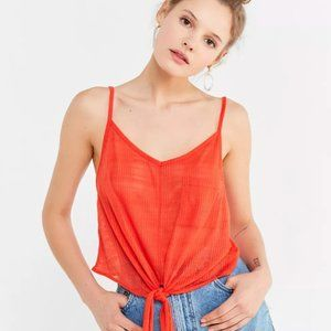 ✨ BNWT Red Front Knot Cami   Urban Outfitters